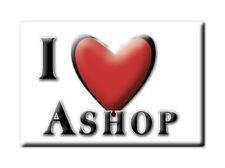 SOUVENIR UK - ENGLAND FRIDGE MAGNET UNITED KINGDOM I LOVE ASHOP (DERBYSHIRE)