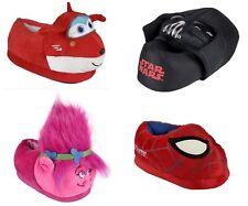 DISNEY Kinder Plüsch Hausschuh Super Wings, Spiderman, Trolls, Star Wars Schuhe