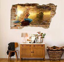 3D Sirena Sul Mare 158 Parete Murales Adesivi Decal Sfondamento AJ WALLPAPER IT