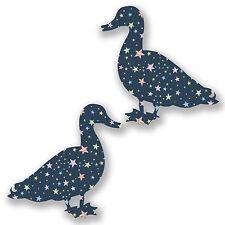 2 x 10cm Pretty Star Ducks Vinyl Sticker Laptop Car Gift Farm Bird Girls #6588
