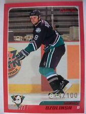 2003-04 O PEE CHEE RED CARD# 154  SANDIS OZOLIKSKY,DUCKS !!!! BOX 7