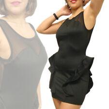 Abito donna nero vestito peplo vestitino sera abiti elegante vestiti peplum