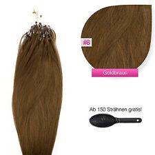 Remy Echthaar Microring Extensions Haarverlängerung #08 goldbraun 0,5g