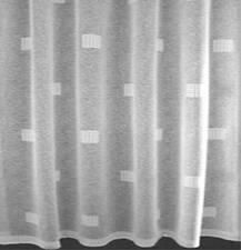 "Cuban Havana White Net Curtain A Contemporary Classic  27"" to 90"" Drop per meter"
