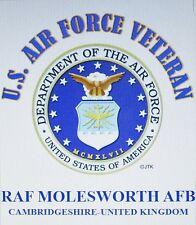 RAF MOLESWORTH AFB* CAMBRIDGESHIRE-UNITED KINGDOM* U.S.AIR FORCE EMBLEM*SHIRT