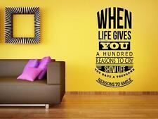Quando la vita offre un centinaio di motivi per gridare... motivazionali Adesivo Parete Arte UK