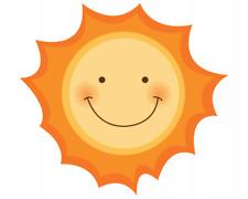Sonne Aufkleber Sticker Autoaufkleber Scheibenaufkleber