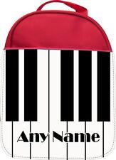 TASTIERA Pianoforte Personalizzata Stampa Bambini Scuola ISOLATO Lunchbox Lunchbag Regalo