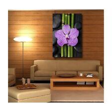 Tableaux toile déco rectangle fleur bamboo 64353850