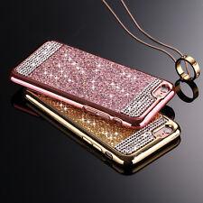 Bling Glitter Diamant Slim TPU Cell Phone Case Back Coque Brillant Scintillant