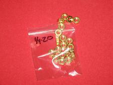 20 pack of Brass hex nuts = 1/4 X 20 = 10 X 32 = 10 x 24 = 8 x 32 = 6 x 32