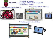 "3.5""/5""/7"" Touch Screen Display HDMI LCD Module+Case Kit Fr Raspberry Pi 3B+/2B+"