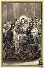 ADESIVO STICKER SANTINO HOLY CARD CENA DOMINI