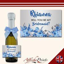 L33 Personnalisé Custom Mini individuel Prosecco bouteille poule soirée mariage étiquette