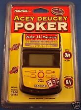 ACE DUECE POKER RADICA ELECTRONIC HANDHELD VIDEO LCD GAME VEGAS CASINO CARDS NEW