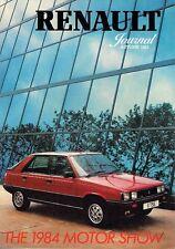 Renault Journal Autumn 1983 UK Market Sales Brochure 4 5 9 11 18 Fuego 20 30