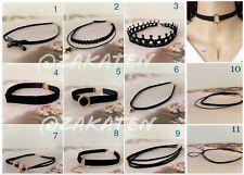 Gothic Black Lace Velvet Choker Collar Necklace Women US Seller