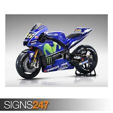 Movistar Yamaha MotoGP 2017 (AC384) Cartel De Bicicleta-arte cartel impresión A0 A1 A2 A3