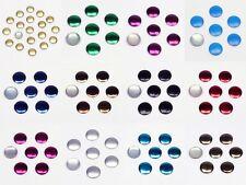 500 Hotfix Nailheads 4mm 24 Farben Bügel-Nieten Studs Halbperlen z. Aufbügeln