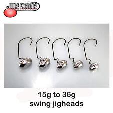 heavy Football swing jig heads worm hooks perch pike hrf jig zander jigging