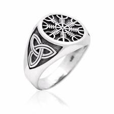 925er Sterling Silber Aegishjalmur Wikinger Norse Odin Keltische Knoten Ring