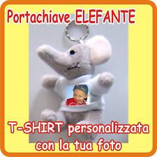 """PORTACHIAVI """"ELEFANTE"""" PERSONALIZZATO CON LA TUA FOTO!"""