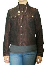 CUSTO BARCELONA Womens Minibar Textured Metallic Moto Jacket RT492396 $267 NWT