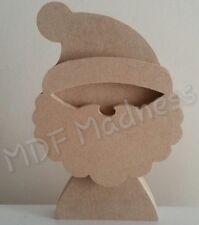 WOODEN CRAFT SHAPE. MDF 3D SANTA. CHRISTMAS ITEM