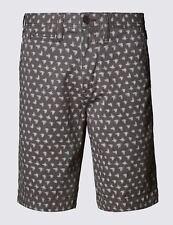 Ex  M&S NORTH COAST Pure Cotton  Print Chino Shorts