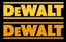 DeWalt Tools Decal Sticker Bumper Tool Box Saw Drill 8 x 2.50