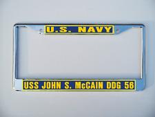 Uss John S McCain Ddg 56 License Plate Frame U S Navy Usn Military