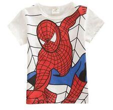 T-Shirt Spiderman-Motiv Jungenshirt Baumwolle Sommershirt Helden Gr. 122-140