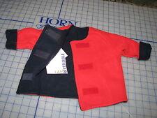 baby infant turtle fur fleece grow coat jacket reversible blue red SMALL