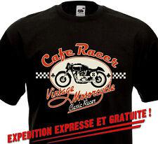 Tee Shirt CAFE RACER - Vintage Motorcycle Custom Biker Norton Triumph BSA Triton