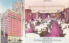 HOTEL BRISTOL, NEW YORK CITY -1940s LINEN POSTCARD