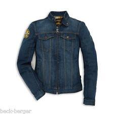 DUCATI Scrambler Trucker Patch Damen Jeansjacke Denim Jacke Jeans blau LADY NEU