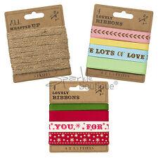 LUXURY GIFT WRAPPING RIBBON-Hessian/Coloured/Festive/Xmas-Wrap/Favour Decoration