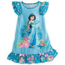 Disney Store Princess Aladdin Jasmine Short Sleeve Nightgown Pajama Girl 7/8