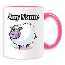 Personalised Gift Lamb Mug Money Box Cup Animal Design Cute Sheep Name Goat Tea
