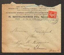 "PARIS (XI°) USINE d'APPAREILS DE CHAUFFAGE & D'ECLAIRAGE ""M. RISTELHUEBER"" 1908"