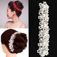 Flower Handmade Hair Clip Wedding Bridal Pearl Headband Crystal Hairband