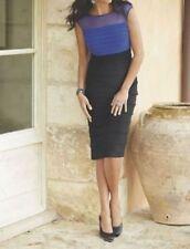 Midnight Velvet Black Blue Formal Alli Shutter Pleat Dress Party Church 22W 24W