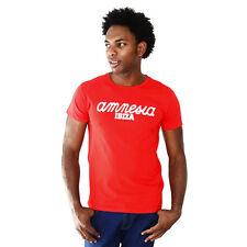UFFICIALE AMNESIA IBIZA Club Logo T-shirt Uomo Classico Party Rosso Bianco Rrp £ 50