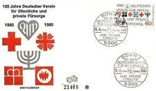Germany 1980 FDC 1044 Red Cross Medicine Czerwony Krzyż Medicine