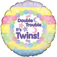 Double It's JUMEAUX 45.7cm Ballon plat décoration pour fête nouveau né baptême