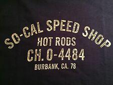 SO-CAL SPEED SHOP FAMOUS TRUCK DOOR LOGO T SHIRT (NAVY) PETE CHAPOURIS HOT RODS