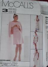 8153 Vintage McCalls SEWING Pattern Misses 2-Pc Dress UNCUT NEW OOP FF