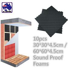 10pcs Studio Acoustic Sound Proof Foam Panel Tile Music 30x30cm 60x60cm MPA0007