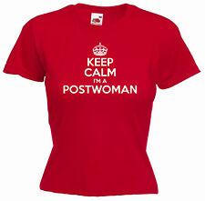 """KEEP CALM I'M A postwoman"" postie Signore Ragazze Divertenti T-Shirt"