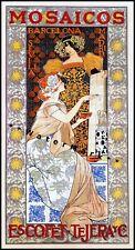 Mosaico 1900 Spanish Tiles Vintage Poster Print Art Nouveau Barcelona Spain